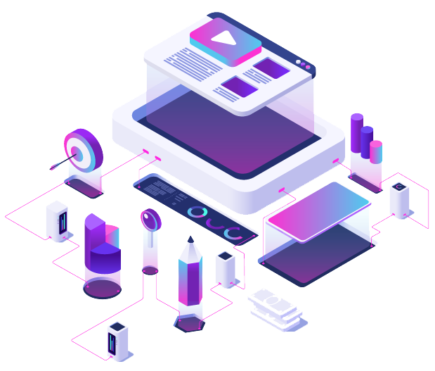 Content Marketing Isometric Template