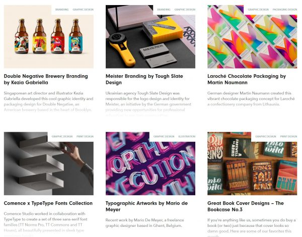 The Inspiration Grid Graphic Design Page